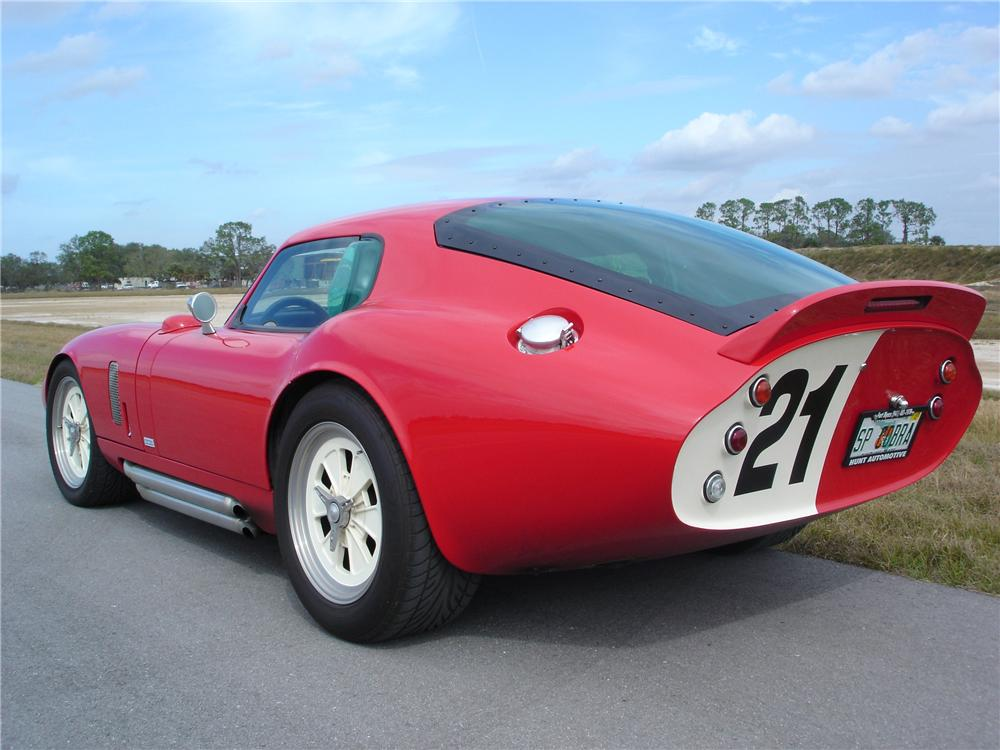 2004 SUPERFORMANCE BROCK DAYTONA COUPE RECREATION - Rear 3/4 - 49414