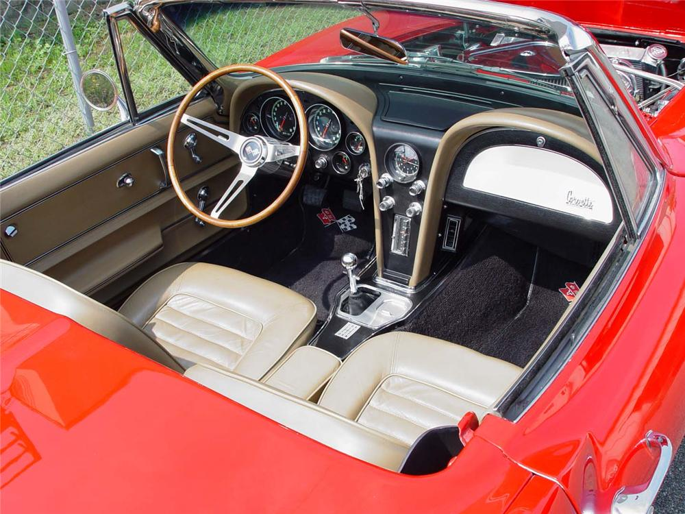 1966 CHEVROLET CORVETTE CUSTOM CONVERTIBLE - Interior - 49440