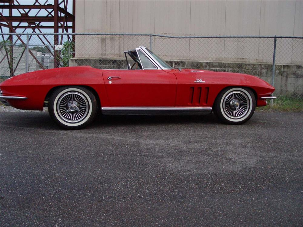 1966 CHEVROLET CORVETTE CUSTOM CONVERTIBLE - Side Profile - 49440