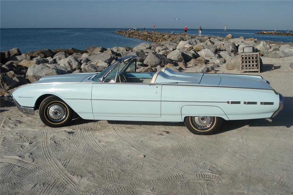 1962 FORD THUNDERBIRD CONVERTIBLE - Side Profile - 49469