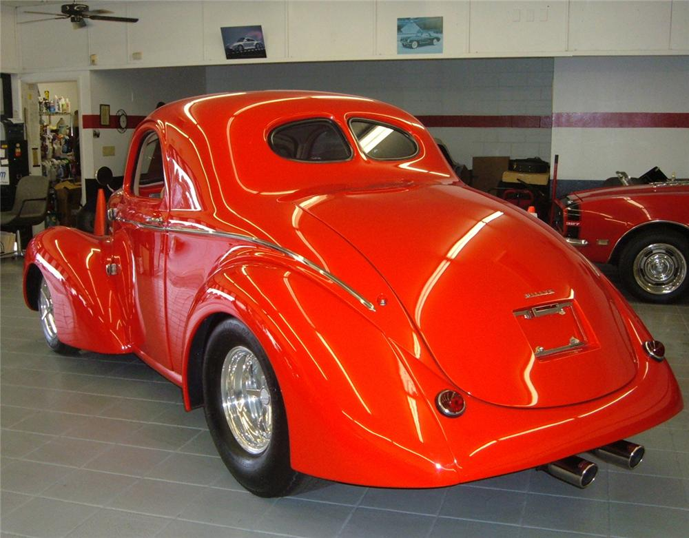 1941 WILLYS CUSTOM COUPE - Rear 3/4 - 49472