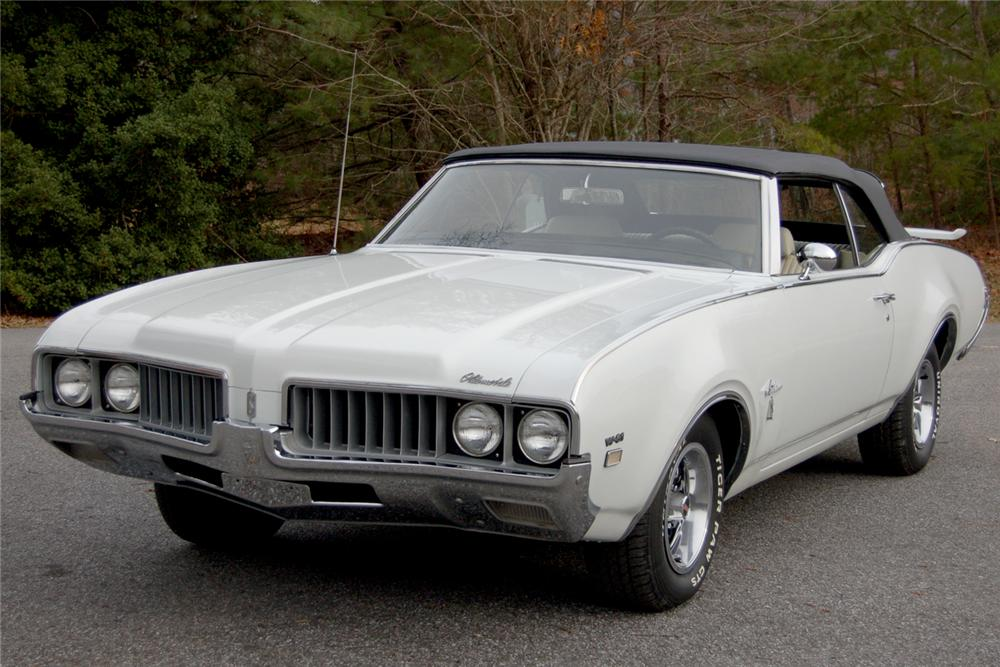 1969 OLDSMOBILE CUTLASS W31 HOLIDAY CONVERTIBLE - Front 3/4 - 49477