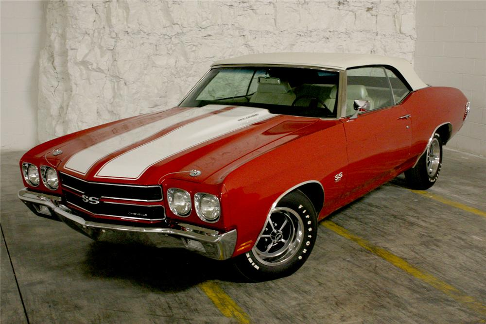 1970 CHEVROLET CHEVELLE SS CONVERTIBLE - Front 3/4 - 49484