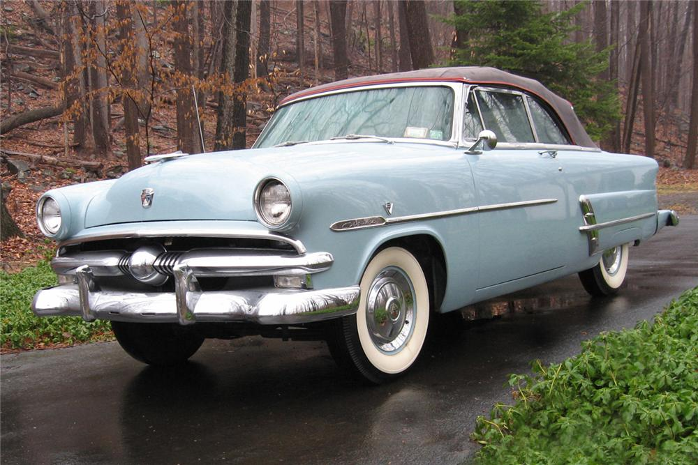 1953 FORD SUNLINER CONVERTIBLE - Front 3/4 - 49488