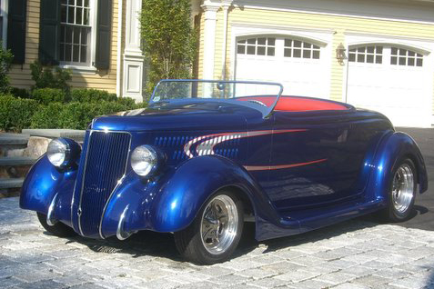 1936 FORD STREET ROD ROADSTER - Front 3/4 - 49489