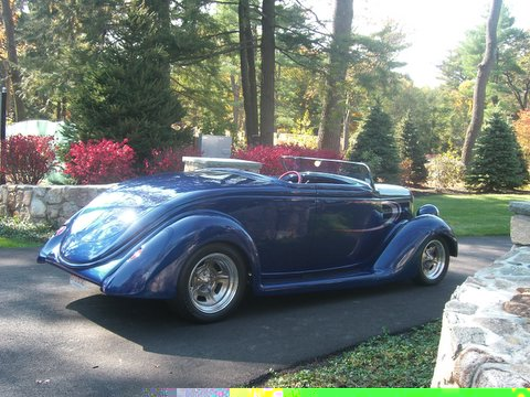 1936 FORD STREET ROD ROADSTER - Rear 3/4 - 49489