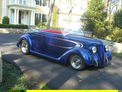1936 FORD STREET ROD ROADSTER - Side Profile - 49489