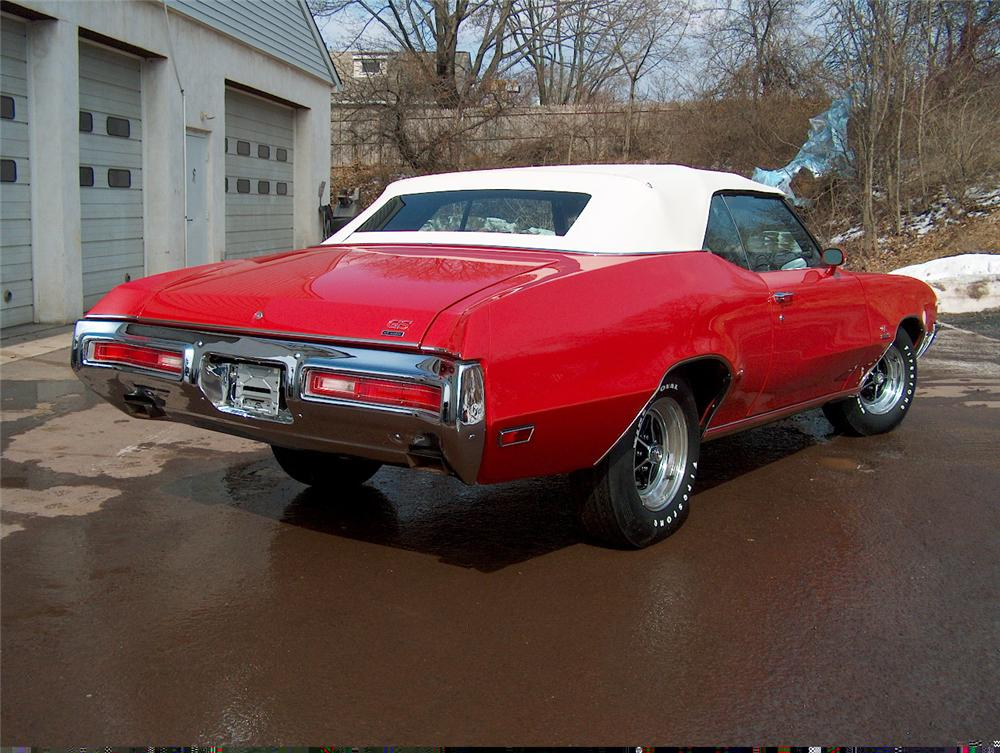 1971 BUICK STAGE ONE GS CONVERTIBLE - Rear 3/4 - 49490