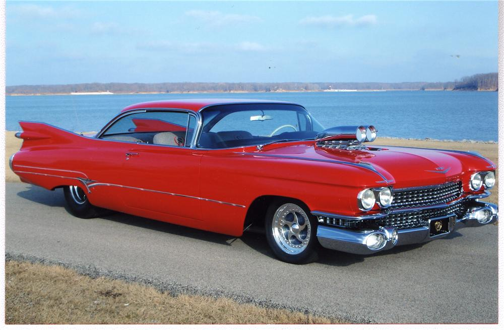 1959 CADILLAC SERIES 62 CUSTOM 2 DOOR HARDTOP - Front 3/4 - 49500