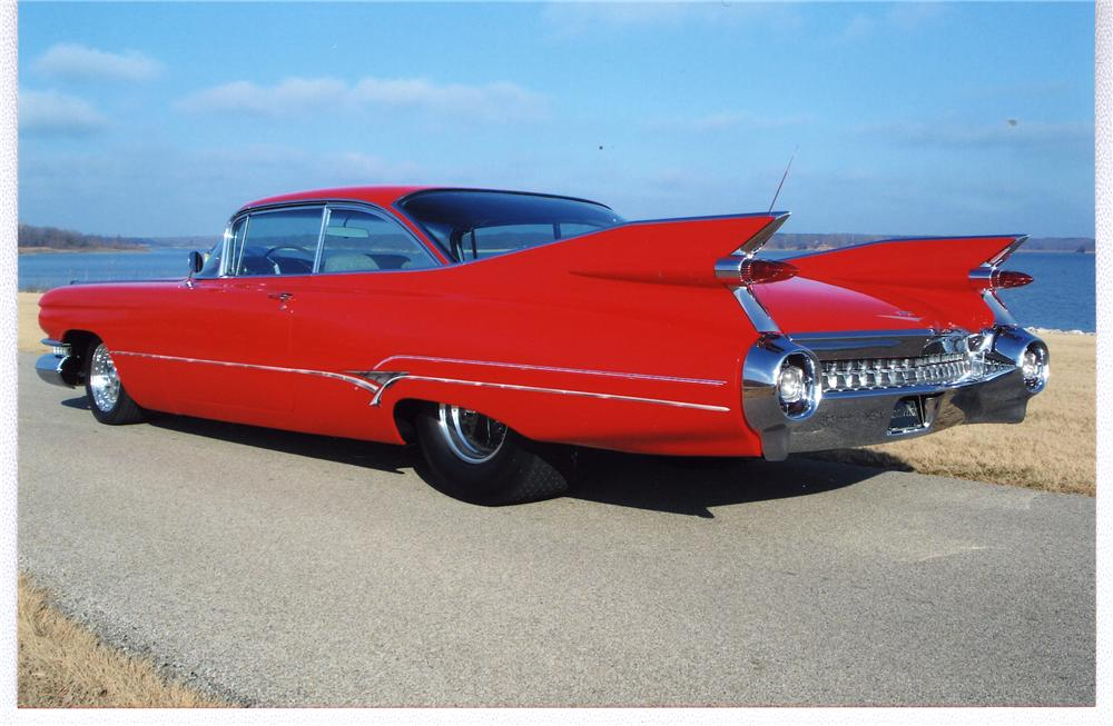 1959 CADILLAC SERIES 62 CUSTOM 2 DOOR HARDTOP - Rear 3/4 - 49500