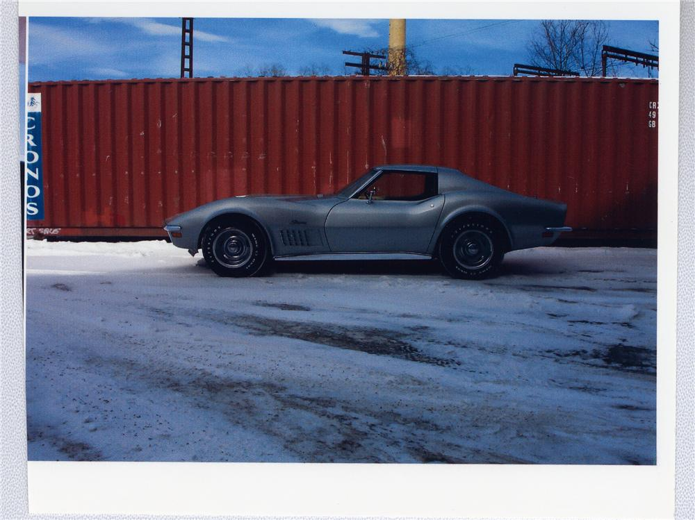 1970 CHEVROLET CORVETTE COUPE - Side Profile - 49501