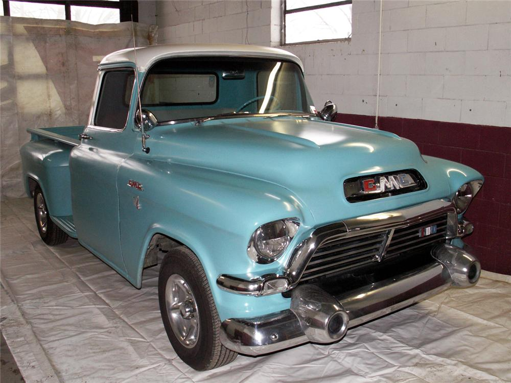 1957 GMC CUSTOM PICKUP - Front 3/4 - 49522