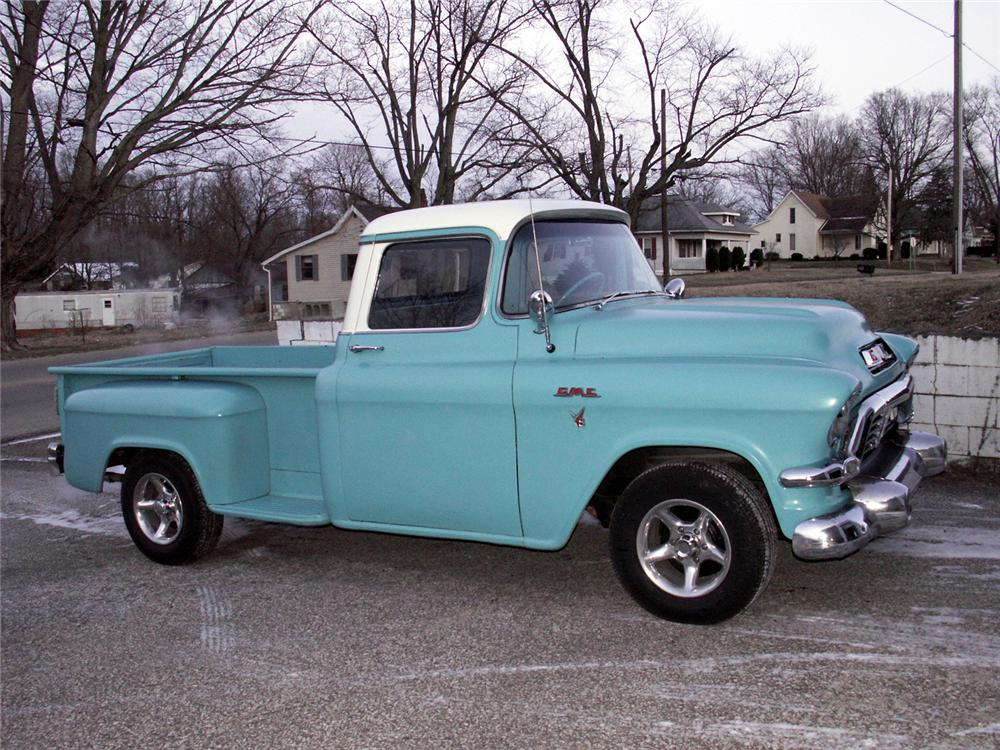 1957 GMC CUSTOM PICKUP - Side Profile - 49522