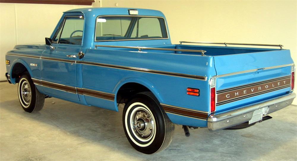 1972 CHEVROLET CHEYENNE SHORT BED PICKUP - Rear 3/4 - 49533