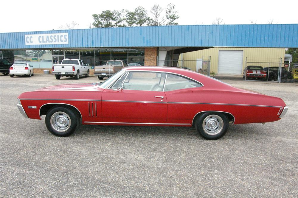 1968 CHEVROLET IMPALA SS 2 DOOR HARDTOP - Side Profile - 49534