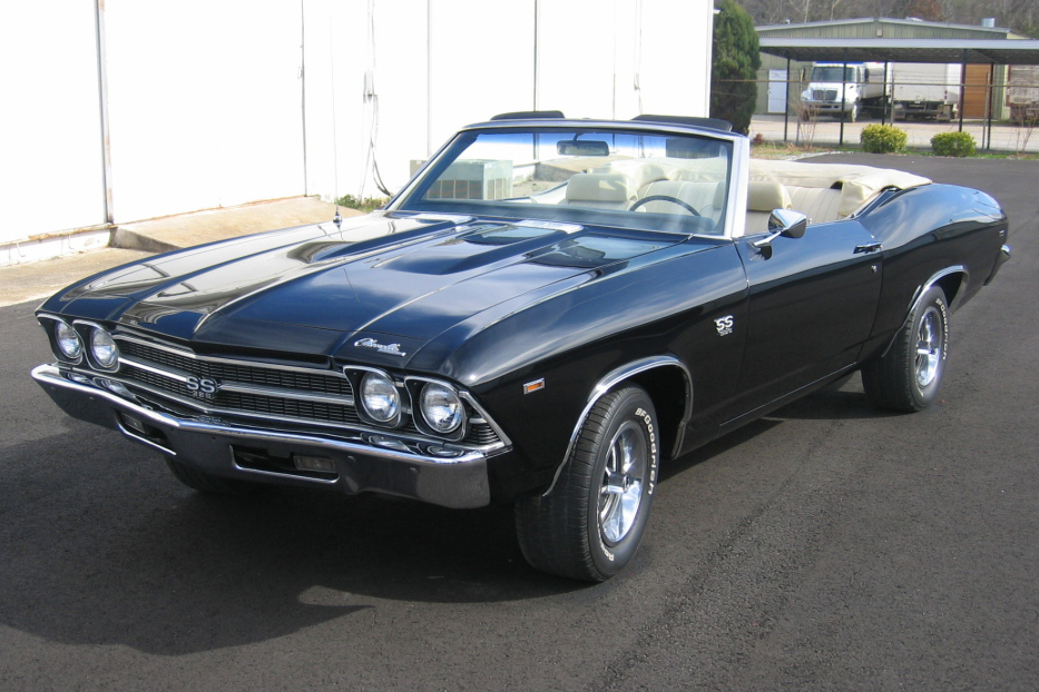1969 CHEVROLET CHEVELLE SS 396 CONVERTIBLE - Front 3/4 - 49537