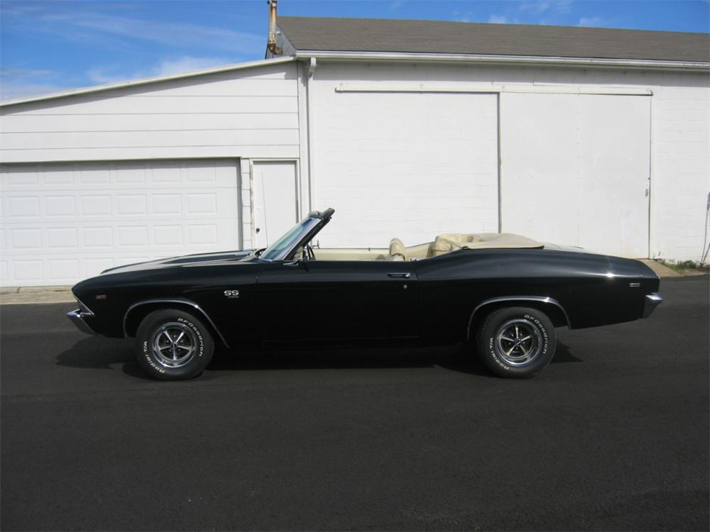 1969 CHEVROLET CHEVELLE SS 396 CONVERTIBLE - Side Profile - 49537