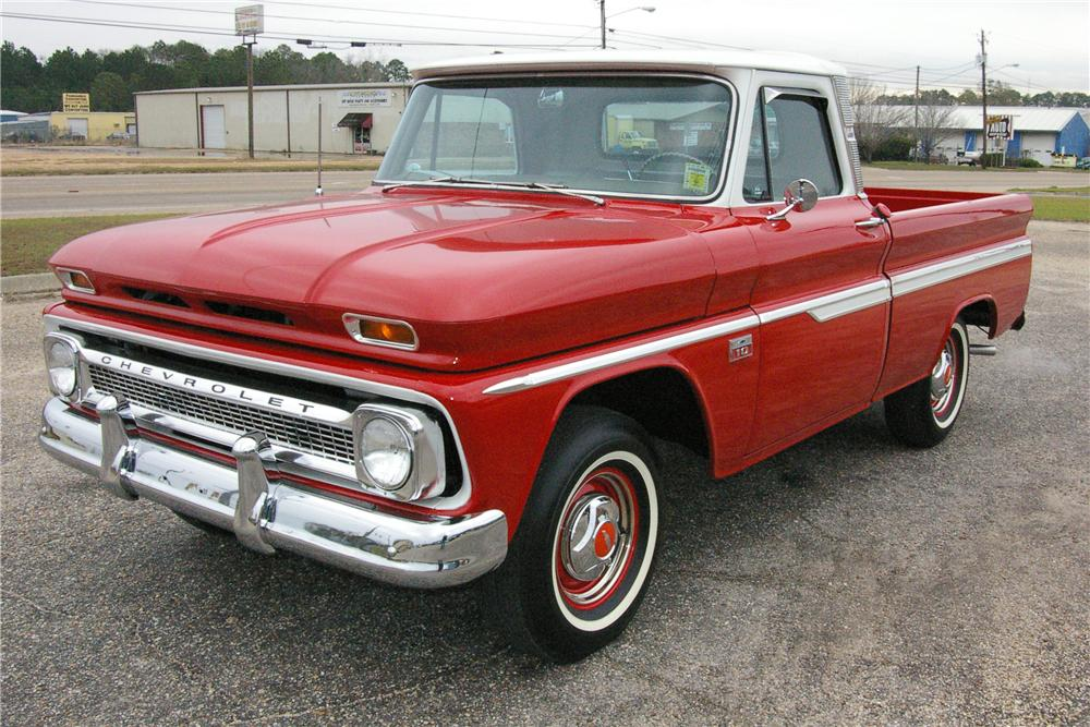 1966 CHEVROLET CUSTOM PICKUP - Front 3/4 - 49538