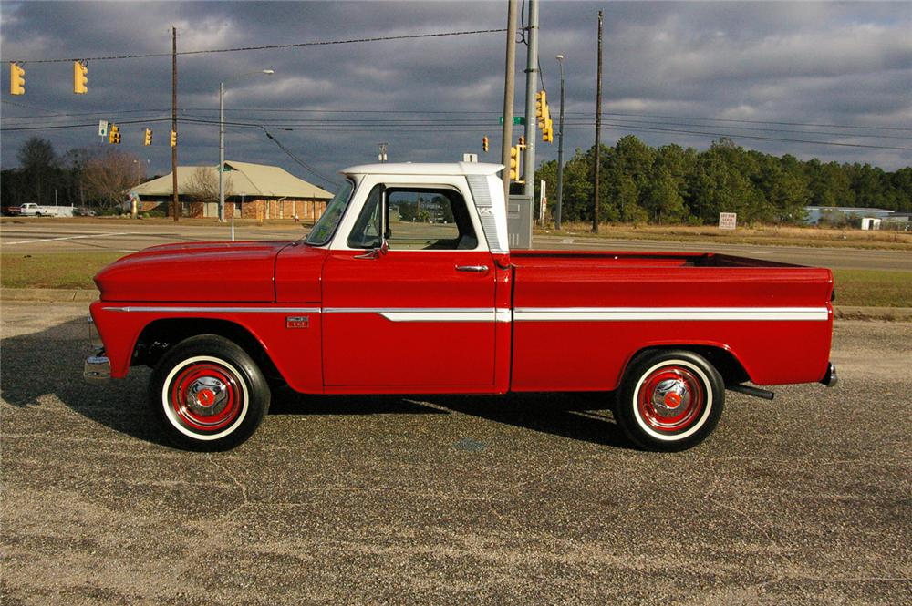 1966 CHEVROLET CUSTOM PICKUP - Side Profile - 49538