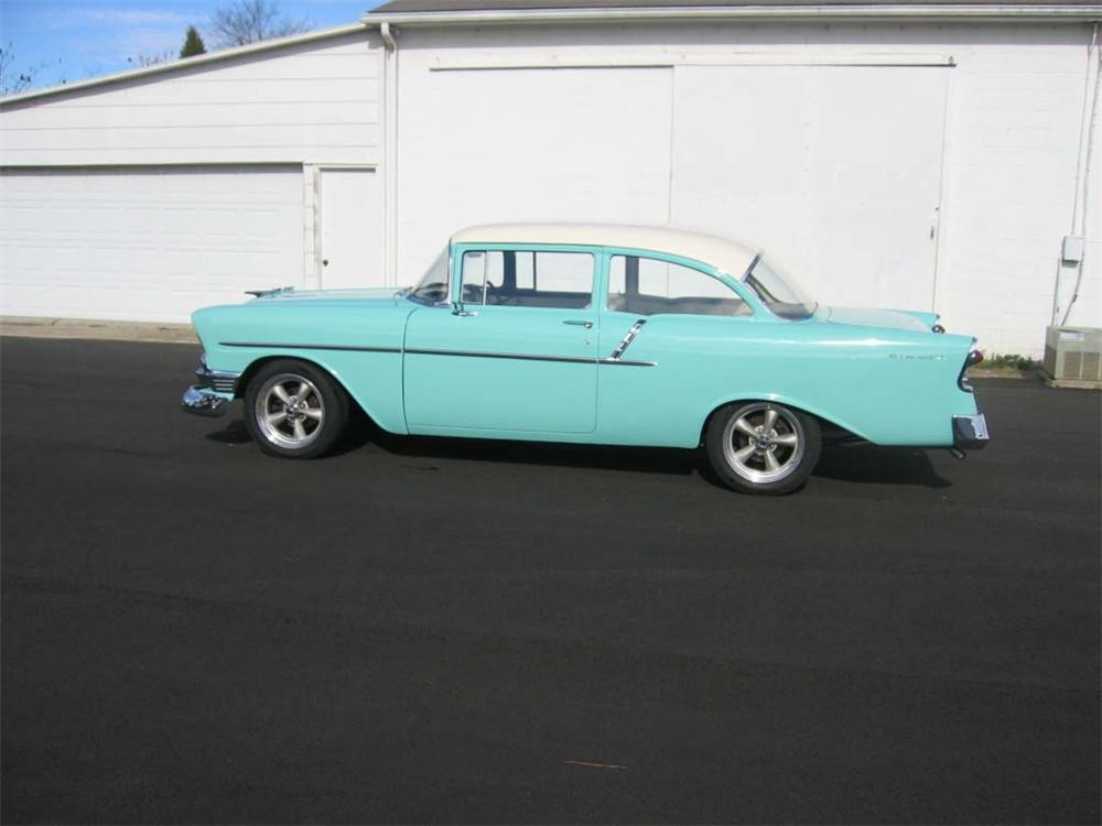 1956 CHEVROLET 150 CUSTOM 2 DOOR HARDTOP - Side Profile - 49540