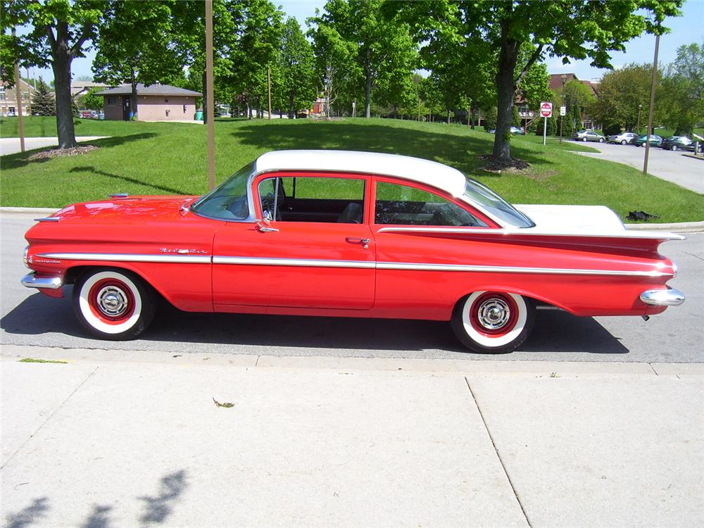 1959 CHEVROLET BEL AIR FI 2 DOOR POST - Side Profile - 49541