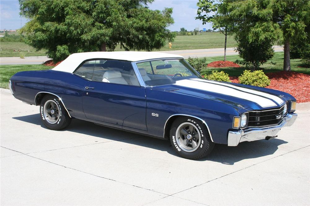 1972 CHEVROLET CHEVELLE SS CONVERTIBLE - Front 3/4 - 49548