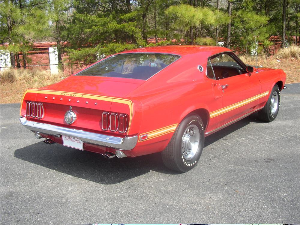 1969 FORD MUSTANG MACH 1 FASTBACK - Rear 3/4 - 49553