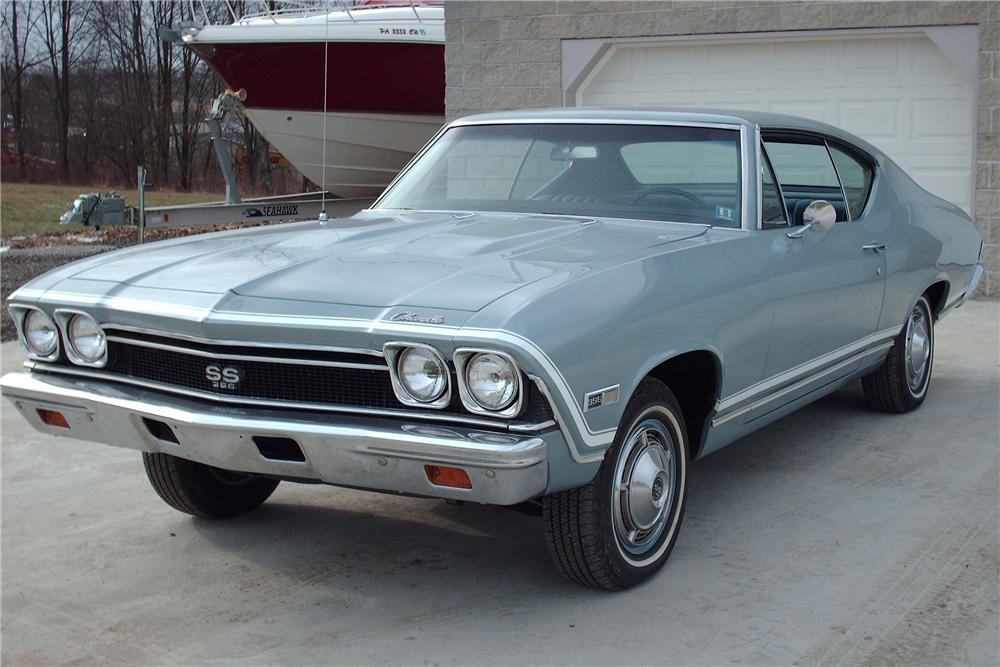 1968 CHEVROLET CHEVELLE SS 2 DOOR COUPE - Front 3/4 - 49570