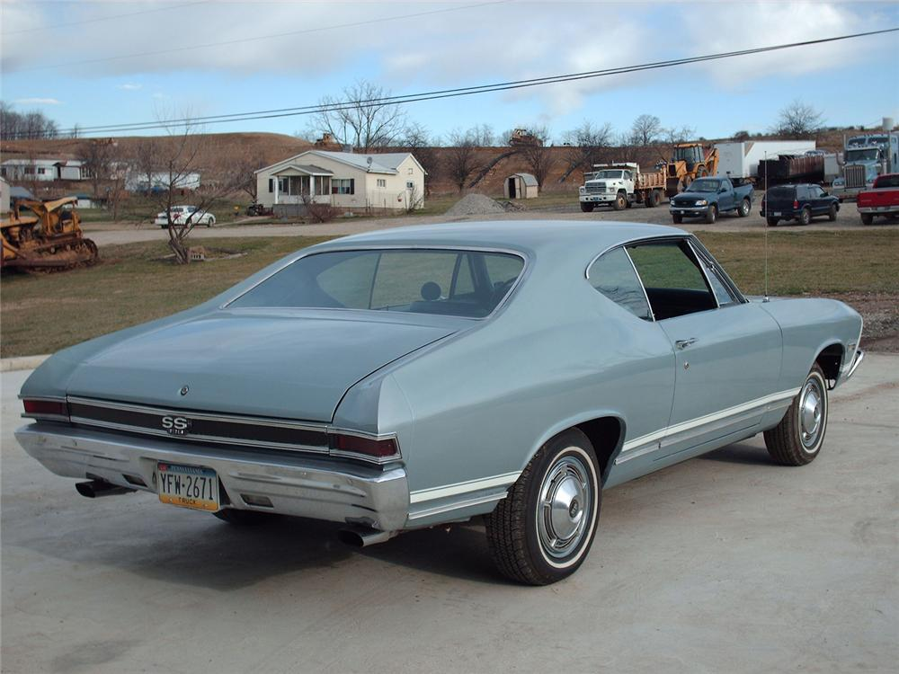 1968 CHEVROLET CHEVELLE SS 2 DOOR COUPE - Rear 3/4 - 49570