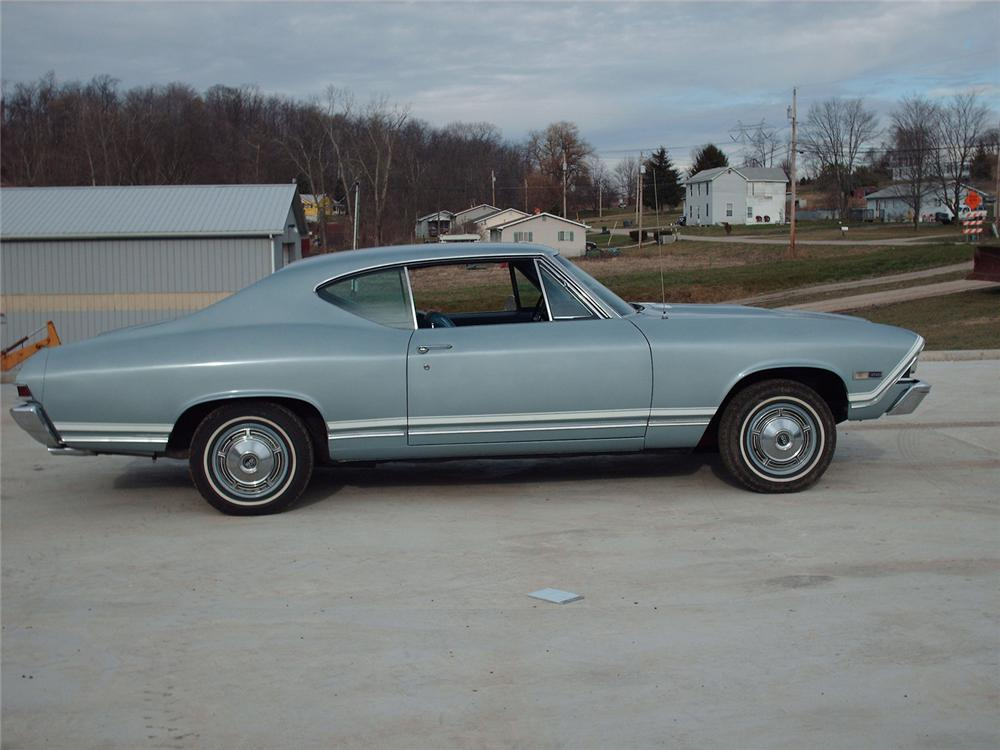 1968 CHEVROLET CHEVELLE SS 2 DOOR COUPE - Side Profile - 49570