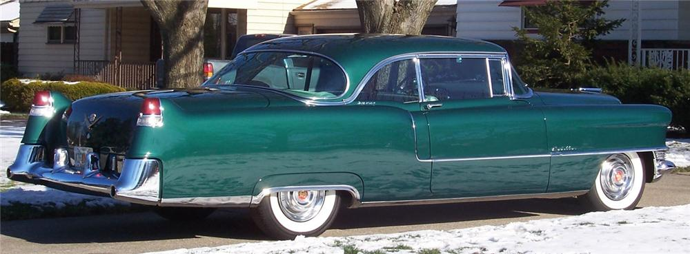 1955 CADILLAC DE VILLE 2 DOOR HARDTOP - Side Profile - 49573