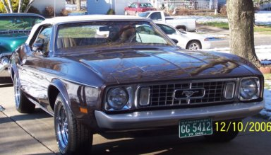 1973 FORD MUSTANG CONVERTIBLE - Front 3/4 - 49574