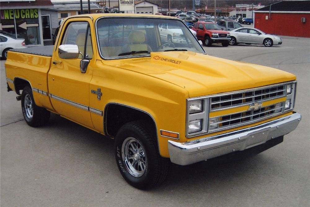 1987 CHEVROLET SHORT BED PICKUP - Front 3/4 - 49586