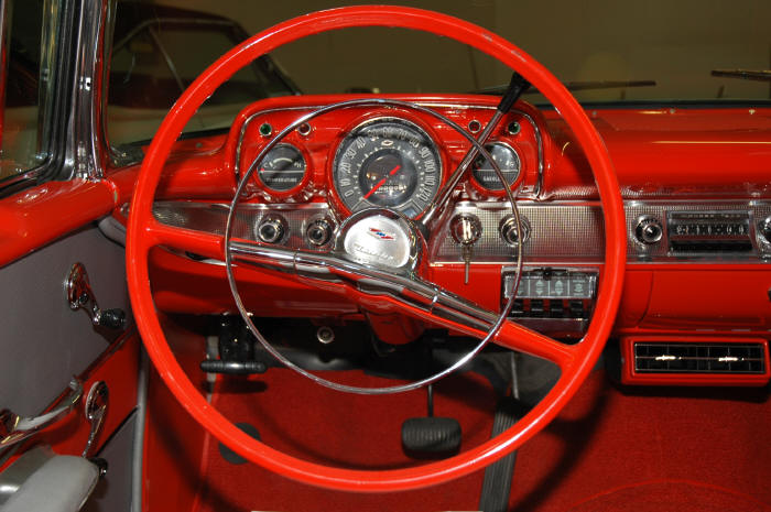 1957 CHEVROLET BEL AIR CONVERTIBLE - Interior - 49592