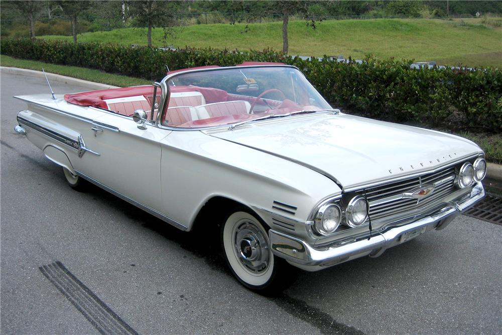 1960 CHEVROLET IMPALA CONVERTIBLE - Front 3/4 - 49593