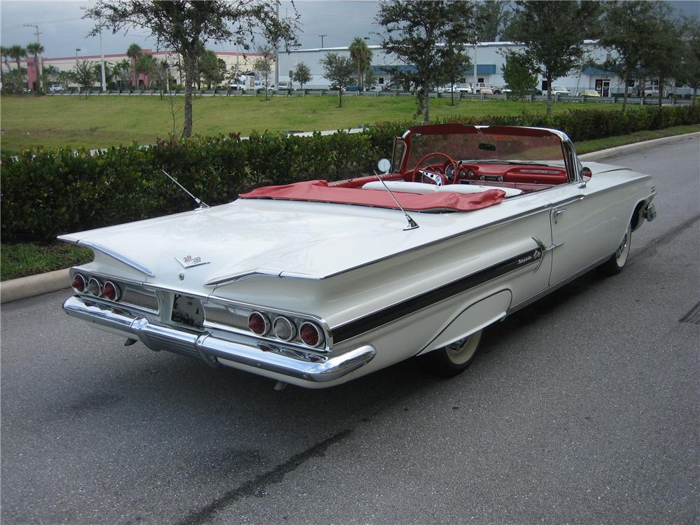 1960 CHEVROLET IMPALA CONVERTIBLE - Rear 3/4 - 49593