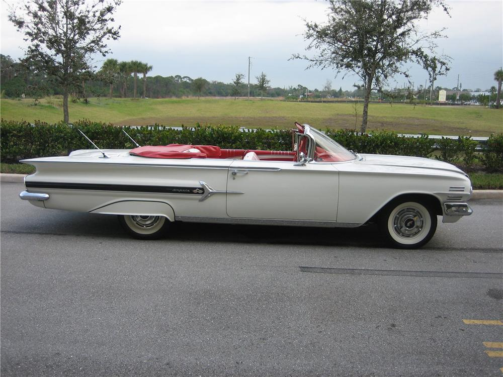 1960 CHEVROLET IMPALA CONVERTIBLE - Side Profile - 49593