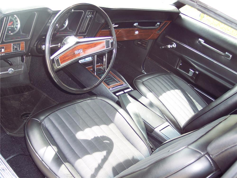 1969 CHEVROLET CAMARO RS/SS CONVERTIBLE - Interior - 49596