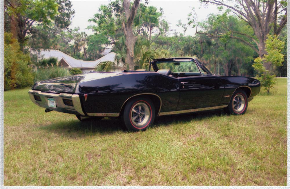 1968 PONTIAC GTO CONVERTIBLE - Rear 3/4 - 49608