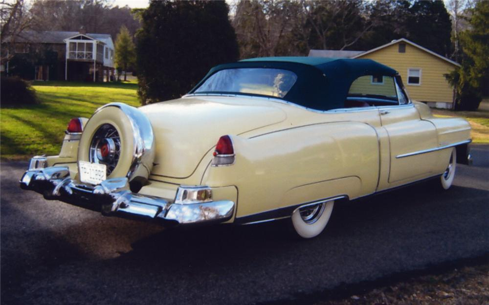 1953 CADILLAC SERIES 62 CONVERTIBLE - Rear 3/4 - 49609