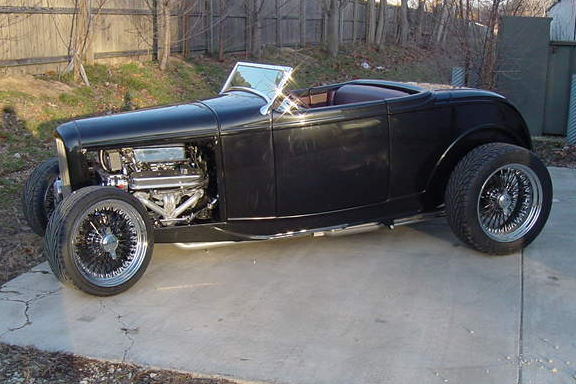 1932 FORD HI-BOY CUSTOM CONVERTIBLE - Front 3/4 - 49614