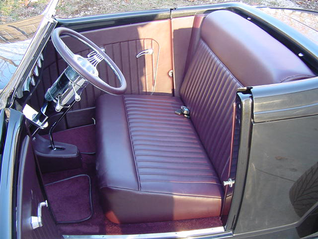 1932 FORD HI-BOY CUSTOM CONVERTIBLE - Interior - 49614