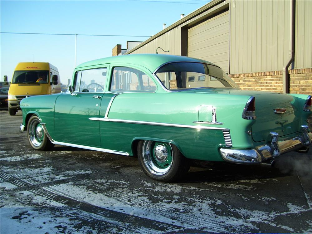 1955 CHEVROLET 210 2 DOOR HARDTOP - Rear 3/4 - 49622