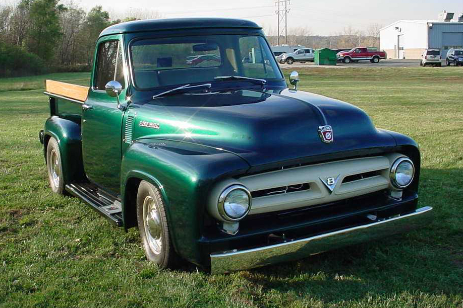 1953 FORD F-100 CUSTOM PICKUP - Front 3/4 - 49627