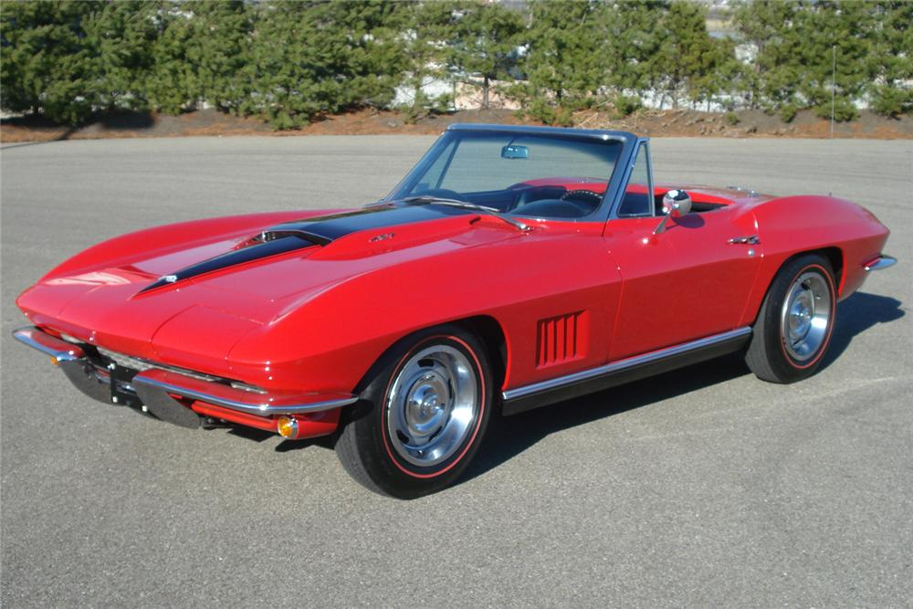 1967 CHEVROLET CORVETTE CONVERTIBLE - Front 3/4 - 49628