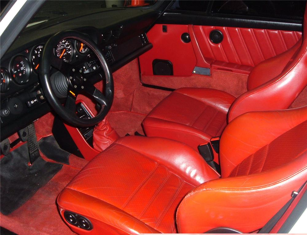 1987 PORSCHE 911 SLANT NOSE CONVERTIBLE - Interior - 49658