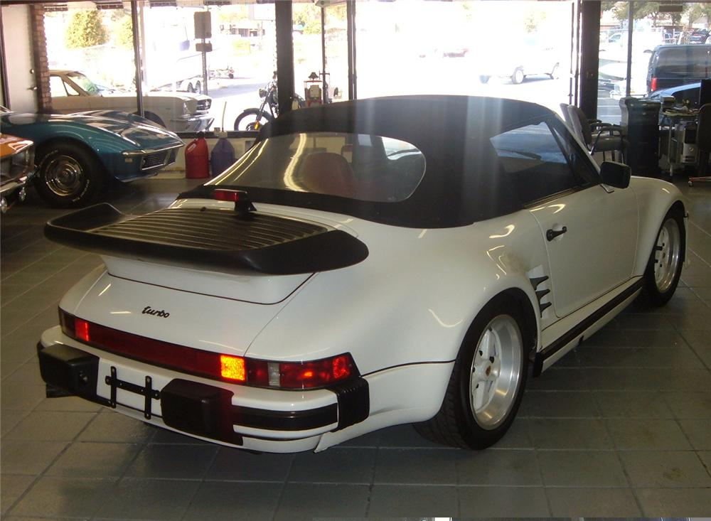 1987 PORSCHE 911 SLANT NOSE CONVERTIBLE - Rear 3/4 - 49658