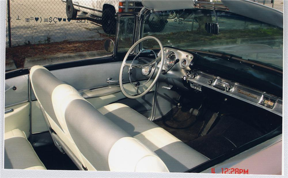 1957 CHEVROLET BEL AIR CONVERTIBLE - Interior - 49668
