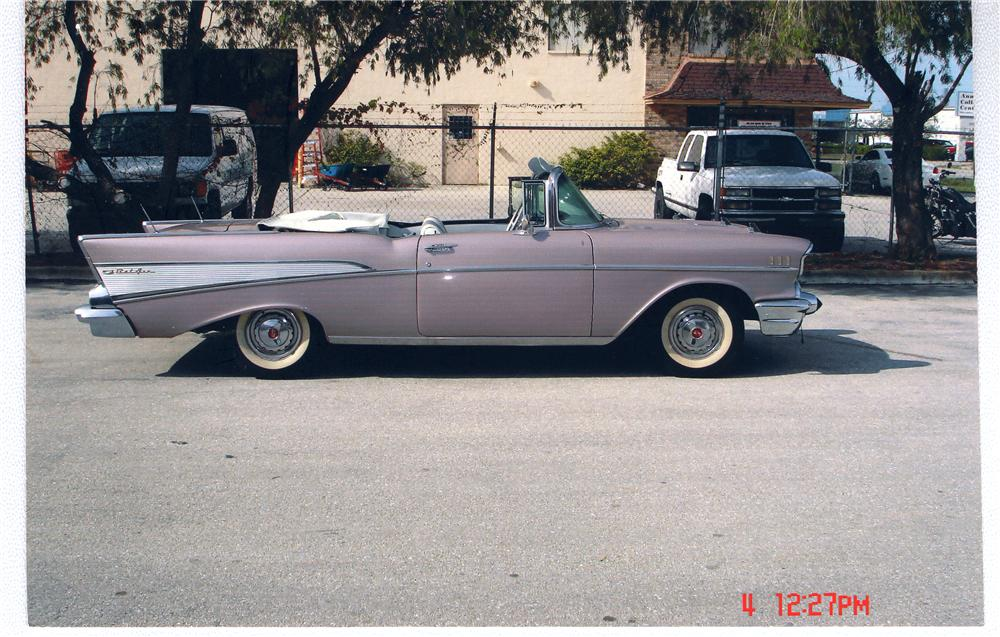 1957 CHEVROLET BEL AIR CONVERTIBLE - Side Profile - 49668