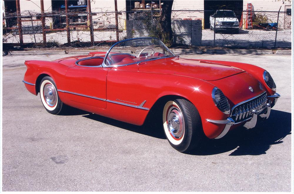 1954 CHEVROLET CORVETTE CONVERTIBLE - Front 3/4 - 49670